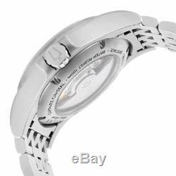 Bulova Accu-Swiss 63A125 Men's Kirkwood Silver Semi-Skeleton Dial Steel Bracelet