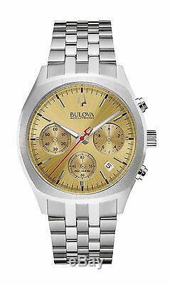 Bulova Accutron II Men's 96B239 Quartz Surveyor Chronograph Gold-Tone Dial Watch
