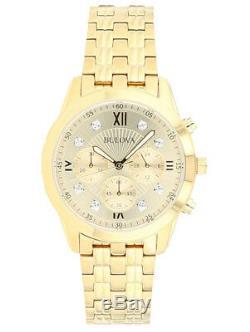 Bulova Men's Diamond Accents Chronograph Quartz Gold-Tone 40mm Watch 97D114