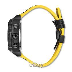 Bulova Precisionist Men's 98B312 Quartz Chronograph Black Rubber Strap Watch
