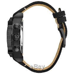 Bulova Precisionist Men's Quartz Black Nylon Strap 46mm Watch 98B318