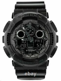 Casio G-SHOCK GA100CF-1A Camouflage Dial Black Analog-Digital 200m Men's Watch