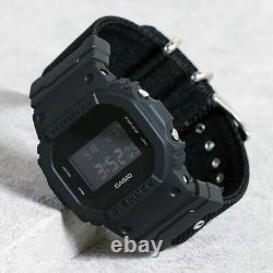 Casio G-Shock Black Series Cordura Fabric Cloth Band Watch GShock DW5600BBN-1