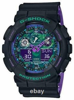 Casio G Shock Ga100bl-1a Black & Purple Limited Analogue & Digital Brand New