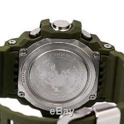 Casio Men's Watch G-Shock Black Digital Dial Olive Resin Strap Chrono GW9400-3