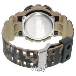 Casio Men's Watch G-Shock Quartz Dive Digital Dial Brown Resin Strap GD120CM-5