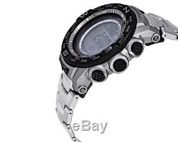 Casio Pro Trek Men's Tough Solar Silver-Tone Titanium Band 56mm Watch PRW3500T-7