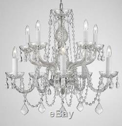 Chandelier Lighting Crystal Chandeliers H25 X W24 10 LIGHTS