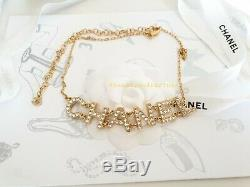 Chanel Classic CC Gold Chanel necklace with Crystal brand new