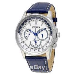 Citizen Calendrier Eco-Drive White Dial Men's Watch BU2020-02A