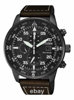 Citizen Crono Aviator Men's Eco Drive Chronograph Watch CA0695-17E NEW