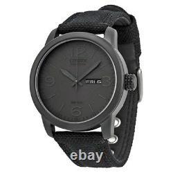 Citizen Men's Black Canvas Eco Drive Watch BM8475-00F NEW