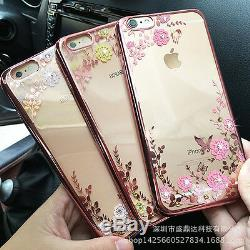 Clear Crystal Diamond Soft Phone back Case For iPhone6/6S//7/8plus/Max/XS/S/XR