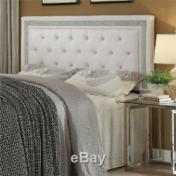 Coaster Andenne Tufted Full Queen Panel Headboard in White