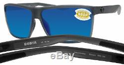 Costa Del Mar Rincon matte smoke crystal frame blue mirror 580P plastic lens