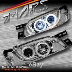 Crystal CCFL Angel-Eyes Projector Head Lights for Subaru Impreza 94-00 GC8 GF8