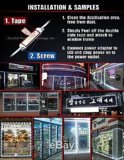 Crystal Vision Samsung PLUG AND PLAY Store Front Window LED Light Kit 50ft White