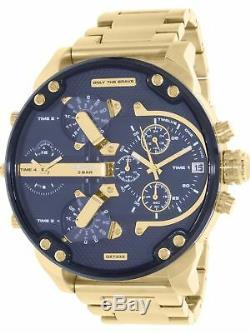 DIESEL Original DZ7333 Men's Mr. Daddy 2.0 Gold Stainless-Steel Quartz Watch
