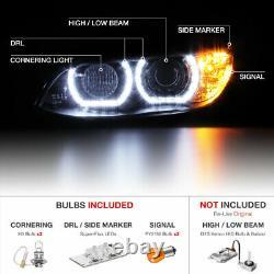 DTM HALO Xenon D1S HID Headlights LED DRL 07-10 BMW E92 E93 328i 335i M3 Coupe
