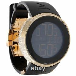 Diamond Gucci I-Gucci Watch Digital Grammy Edition YA114215 Black/Gold 2.5 CT