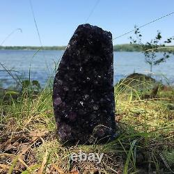 EXTRA LARGE POLISHED Amethyst Druze Crystal Cluster With Cut Base 2 Pounds ea
