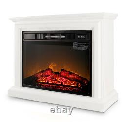 Electric Quartz Infrared Fireplace Heater Mantel, with Remote Control 1400 Watt