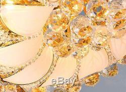 Elegant Modern Crystal Ceiling Fixture Lamps Chandelier LED Lighting Lights 2018