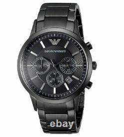Emporio Armani Men's Watch Ar2453 Black Chronograph Certificate New Original