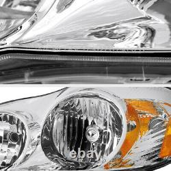 For 03-08 Toyota Corolla Chrome Clear Replacement Head Lamp Light Factory Style