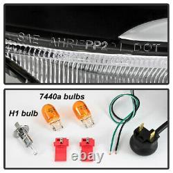 For 04-08 Acura TSX LED Bar Neon Tube BLACK Projector Headlight Left+Right Lamp
