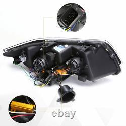 For 05-08 BMW E90 3-Series LED 3D Crystal U-Halo Projector Headlight/Lamp Black