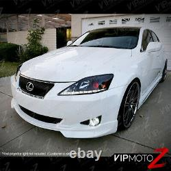 For 2006-2013 Lexus IS250 IS350 LED Strip DRL LED Headlights Assembly Left+Right