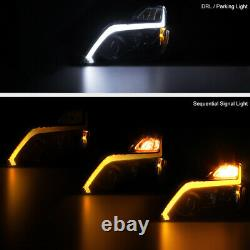 For 2008-15 Infiniti G37 Q60 Coupe SWITCHBACK LED STRIPS Projector Headlights