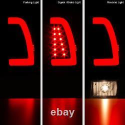 For 97-03 Ford F150 F250 Superduty Black Neon Tube Light LED Brake Tail Lamp L+R