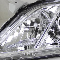 For Toyota 2007-2009 Camry Crystal Clear JDM Amber Projector Headlights Pair