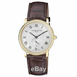 Frederique Constant Slimline Quartz Movement Silver Dial Men's Watch FC-235M4S5