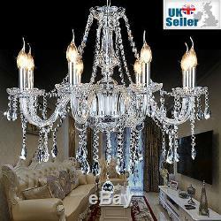 Genuine K9 Crystal Chandelier CLEAR 2, 6, 8, 10, 10+5, 16+8, 20+10, 16+10+6