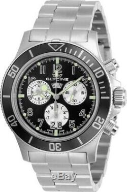 Glycine GL1005 Men's Combat Sub Quartz 42mm Chronograph Black Dial Watch