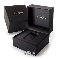 Glycine Men's 3890.191AT. TB2 Combat 6 Vintage Automatic 43mm Black Dial GL0122