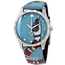 Gucci YA1264080 Men's G-Timeless Blue Quartz Watch
