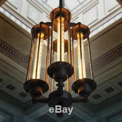 Industrial Steampunk Style Chandelier Vintage Pendant Light Loft Ceiling Fixture