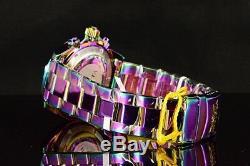 Invicta 40mm Speedway Chronograph Platinum MOP Dial IRIDESCENT SS Bracelet Watc