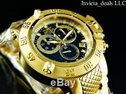 Invicta 50mm Subaqua Noma III Swiss ETA Chrono Black Dial 18K Gold Plated Watch