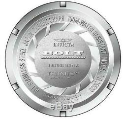 Invicta Bolt 25520 Men's Round White Chronograph Heat Treated Analog Watch