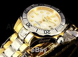 Invicta Grand Diver 300M Mother Of Pearl Dial GP Case Two Tone Bracelet Watch
