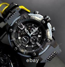 Invicta Marvel Black Panther 52mm Limited Ed Bolt Chronograph Rubber Watch New