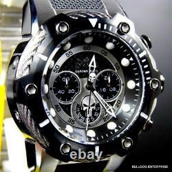 Invicta Marvel Punisher Bolt 51mm Steel Limited Ed Black Chronograph Watch New