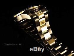 Invicta Men 300M Grand Diver Automatic Black Carbon Dial Gunmetal-Gold IP Watch