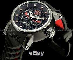 Invicta Men's 48mm Japanese S1 Rally Ninja Red n Black Textured Dial Strap Watch