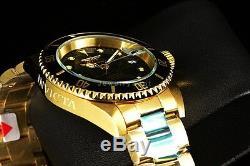 Invicta Men's Pro Diver Coin Edge 18k Gold Tone Automatic NH35A Black Dial Watch